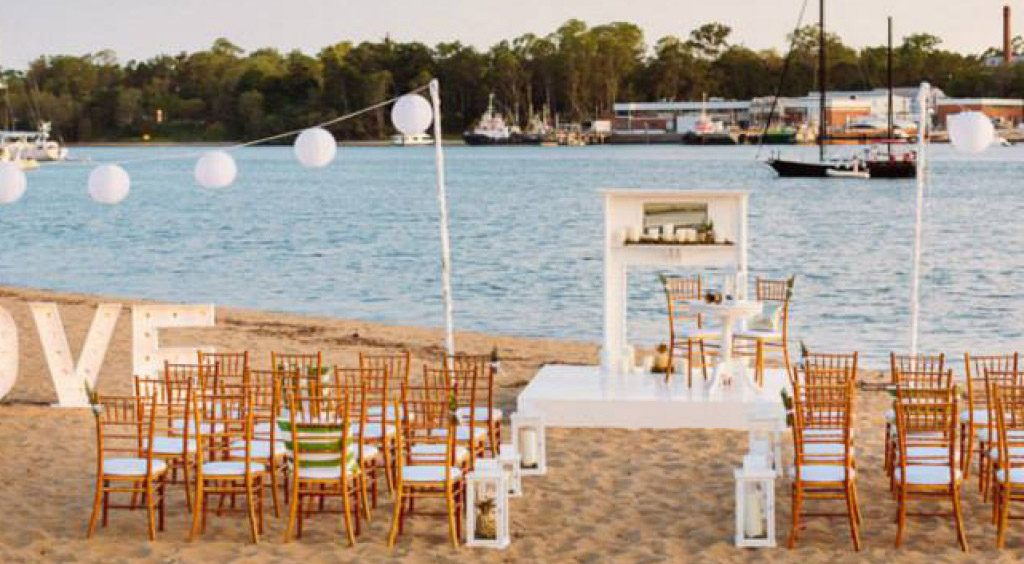beach wedding venue brisbane