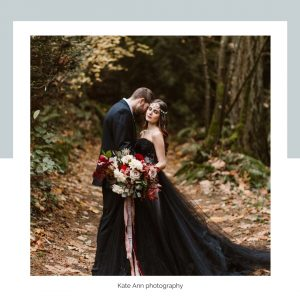 black wedding color theme