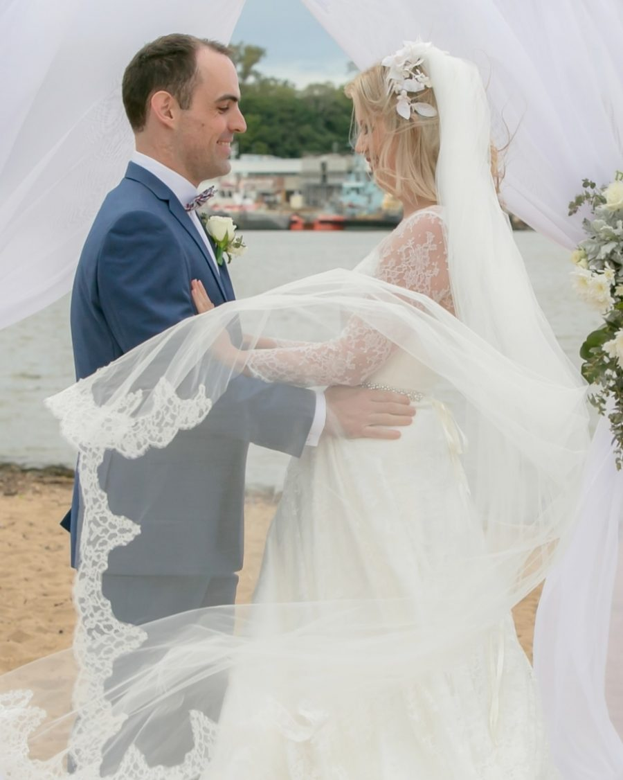 Kylie & Chris's Romantic Beach Wedding