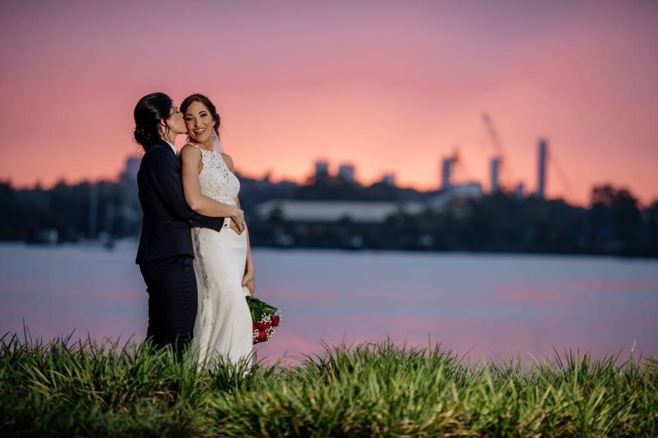 same sex wedding photos brisbane